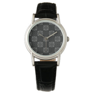 Su corazón negro tribal reloj de pulsera