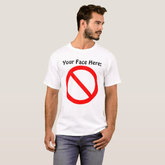 Su de la cara camiseta aquí