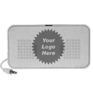Su del negocio del logotipo promo aquí notebook altavoces