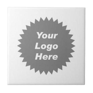 Su del negocio del logotipo promo aquí azulejo cuadrado pequeño