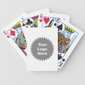 Su del negocio del logotipo promo aquí baraja cartas de poker