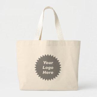 Su del negocio del logotipo promo aquí bolsa tela grande