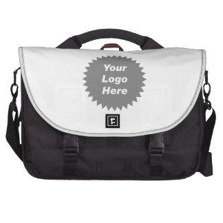 Su del negocio del logotipo promo aquí bolsas de ordenador