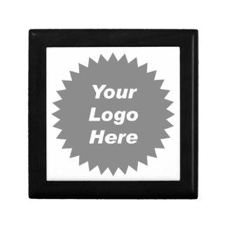 Su del negocio del logotipo promo aquí cajas de joyas