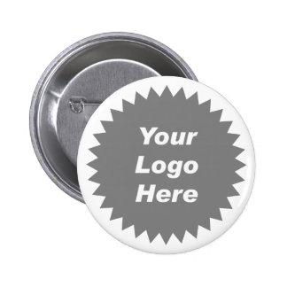 Su del negocio del logotipo promo aquí chapa redonda 5 cm