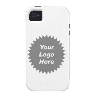 Su del negocio del logotipo promo aquí iPhone 4 fundas