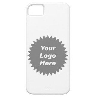 Su del negocio del logotipo promo aquí iPhone 5 Case-Mate fundas
