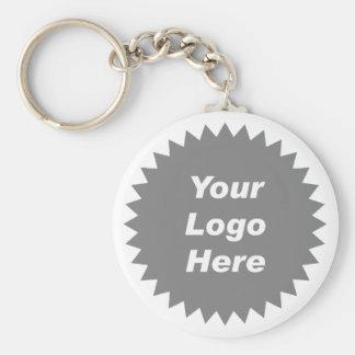 Su del negocio del logotipo promo aquí llaveros personalizados