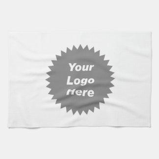 Su del negocio del logotipo promo aquí toallas de mano