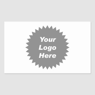 Su del negocio del logotipo promo aquí rectangular pegatinas