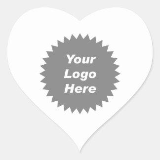 Su del negocio del logotipo promo aquí pegatina en forma de corazón
