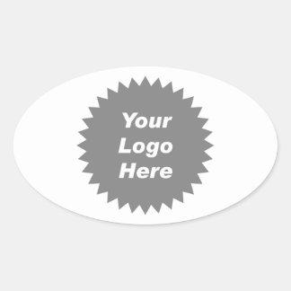 Su del negocio del logotipo promo aquí pegatinas de oval