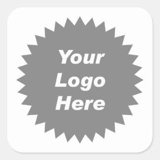 Su del negocio del logotipo promo aquí pegatina cuadrada