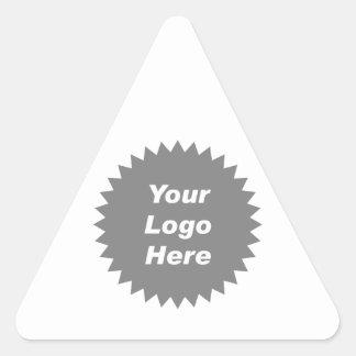 Su del negocio del logotipo promo aquí calcomanía de triangulo personalizadas