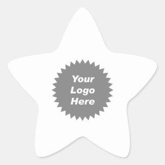 Su del negocio del logotipo promo aquí calcomanías forma de estrella personalizadas