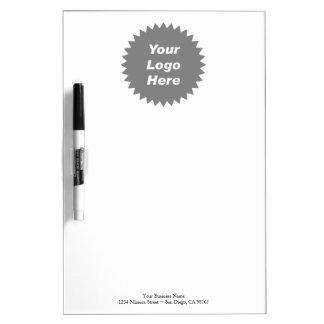 Su del negocio del logotipo promo aquí pizarras blancas de calidad