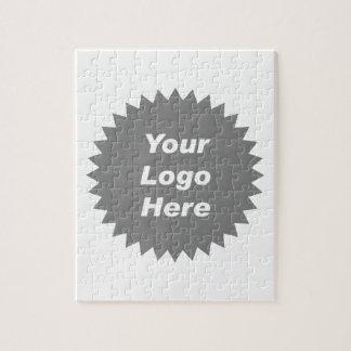 Su del negocio del logotipo promo aquí rompecabezas con fotos