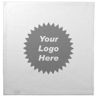 Su del negocio del logotipo promo aquí servilleta