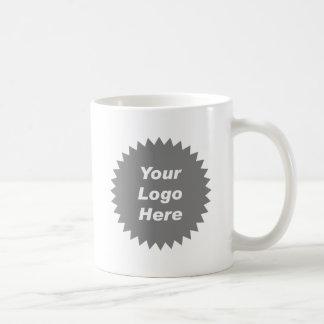 Su del negocio del logotipo promo aquí taza básica blanca