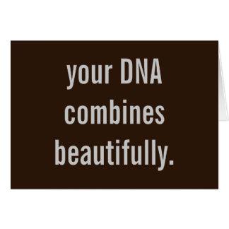 """Su DNA combina maravillosamente"" la nueva tarjeta"
