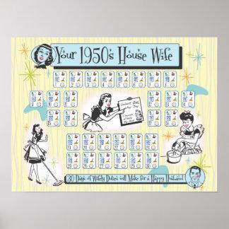 Su esposa de la casa de los años 50 póster