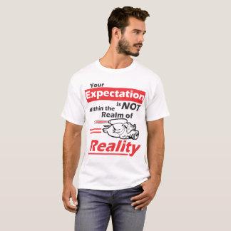Su expectativa no está dentro del reino de la camiseta