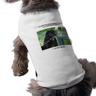 ¡Su foto aquí! Mi mezcla del pitbull del mejor ami Camisetas De Perro