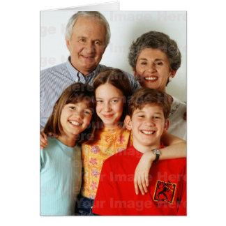 Su foto en una tarjeta de felicitación vertical