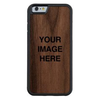 Su imagen aquí funda de iPhone 6 bumper nogal