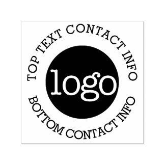 Su logotipo del negocio con la información de sello automático