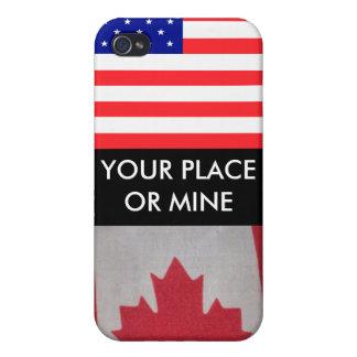 SU LUGAR O MINA USA/Canada i iPhone 4/4S Fundas