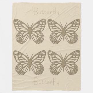 Su manta de la mariposa del oro y de la crema