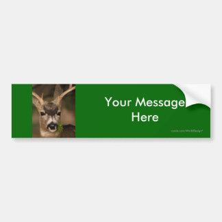 Su mensaje pegatina para coche