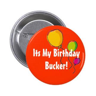 su mi bucker del cumpleaños chapa redonda 5 cm