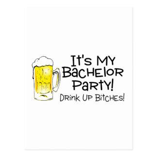 Su mi cerveza de la despedida de soltero postales