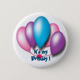 Su mi cumpleaños chapa redonda de 5 cm