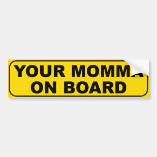 Su Momma a bordo Pegatina Para Coche