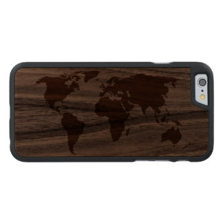 Su mundo - funda fina de nogal para iPhone 6 de carved