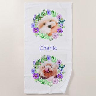 Su nombre y 2 fotos en flor capítulo la toalla de