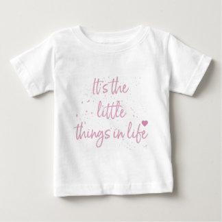 Su--pequeño-Cosa-en-Vida-cita-Rosado Camiseta De Bebé