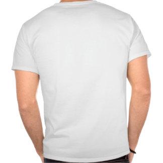 Su problema (del texto parte posterior encendido) camisetas