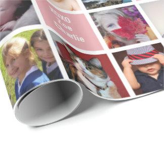 Su regalo de encargo del collage de la abuela papel de regalo