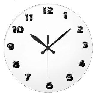 Su reloj de pared (grande) redondo de encargo