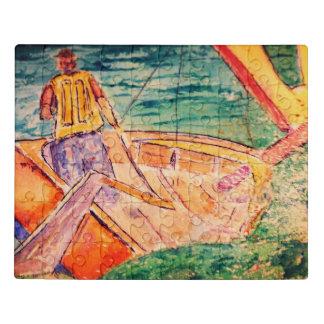 Su rompecabezas de encargo del barco del arte