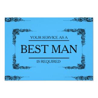 Su servicio se pide como mejor padrino de boda del invitación 12,7 x 17,8 cm