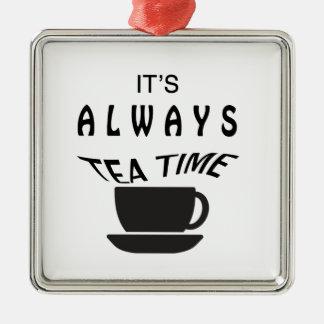 Su siempre tiempo del té adorno de cerámica