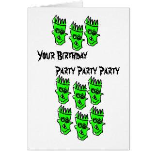 Su tarjeta de cumpleaños del gótico de los cráneos