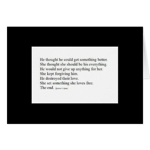 Su tarjeta de engaño del poema del corazón