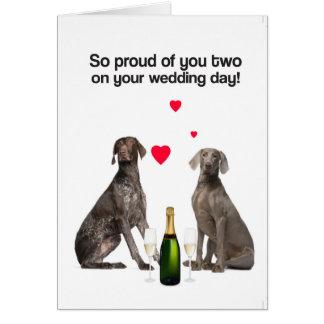 Su tarjeta de felicitación del día de boda (GSP y