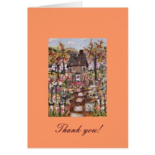 Su tarjeta de felicitación del jardín